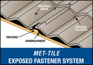 Met-Tile Exposed Fastener System