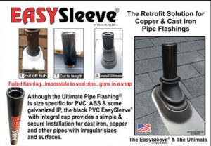 easy sleeve roof pipe flashing
